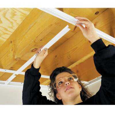 CeilingMax 8 Ft. x 15/16 In. White PVC Wall Bracket