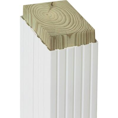 Beechdale 6 In. W. x 6 In. H. x 102 In. L. White PVC Fluted Post Wrap