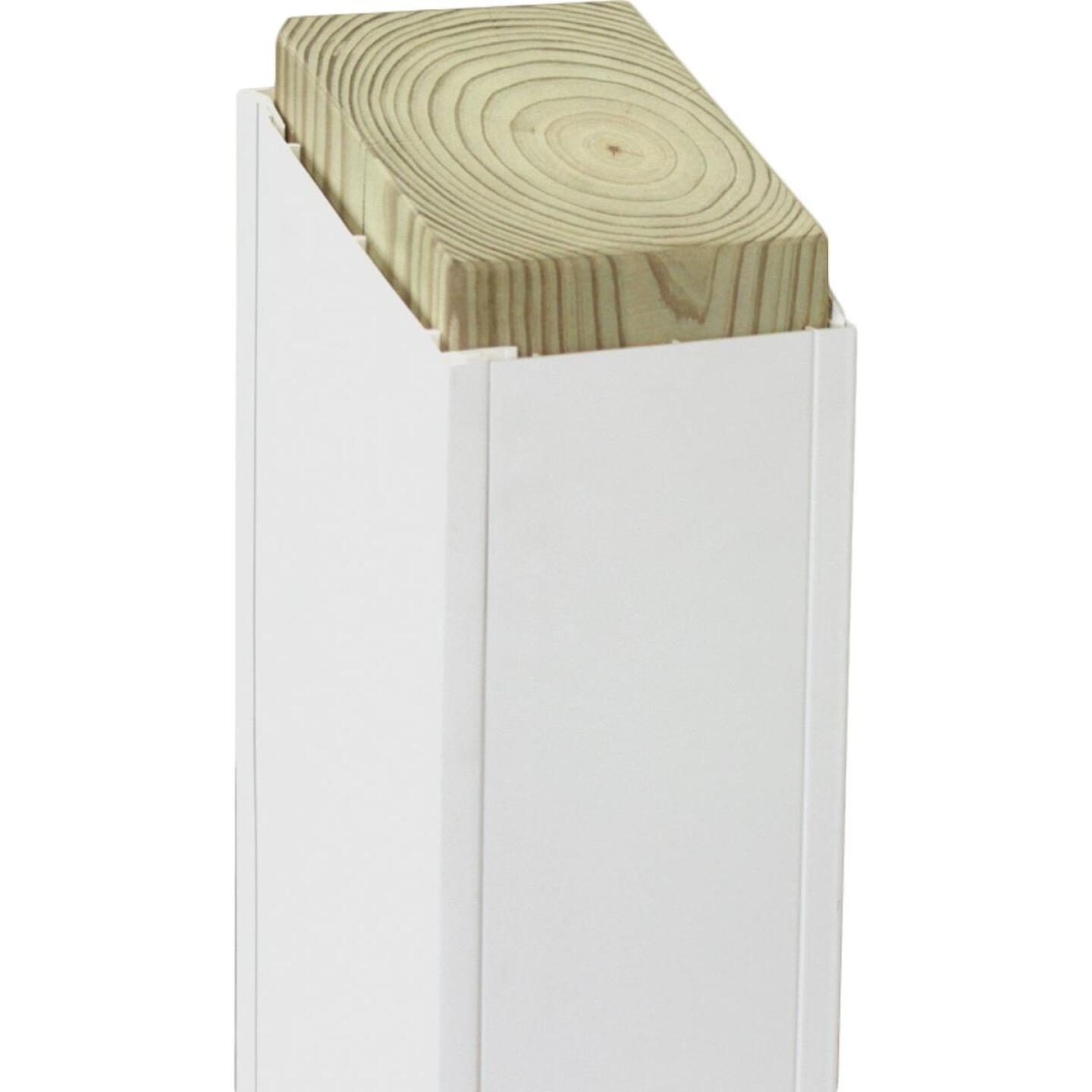 Beechdale 6 In. W x 6 In. H x 120 In. L White PVC Smooth Post Wrap Image 1