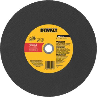 DeWalt High Performance 14 In. x 1/8 In. x 20mm Type 1 Metal Cut-Off Wheel