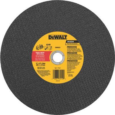 DeWalt High Performance 12 In. x 1/8 In. x 20mm Type 1 Metal Cut-Off Wheel