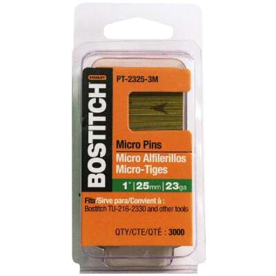 Bostitch 23-Gauge Coated Pin Nail, 3/4 In. (3000 Ct.)