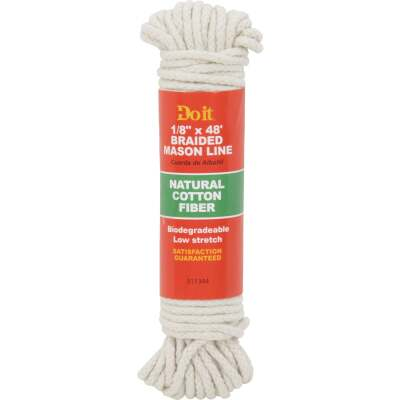 Do it 48 Ft. White Braided Cotton Mason Line