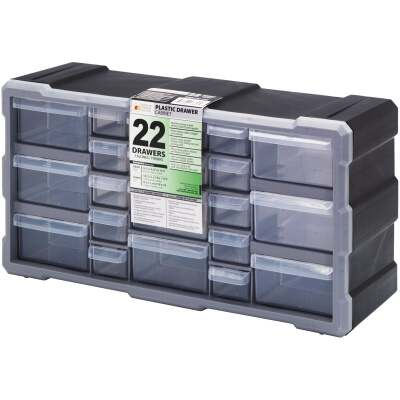 Quantum Storage 19.50 In. W x 10.25 In. H x 6.25 In. L Small Parts Organizer with 22 Drawers
