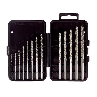 Mibro 13-Piece High-Speed Steel Drill Bit Set, 1/16 In. thru 1/4 In.