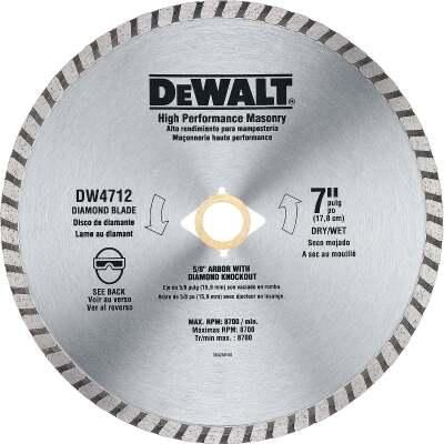 DeWalt High Performance 7 In. Turbo Rim Dry/Wet Cut Diamond Blade