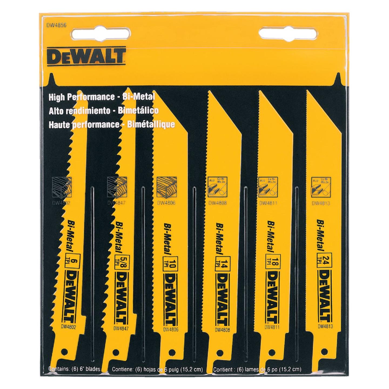 DeWalt 6-Piece Reciprocating Saw Blade Set Image 2