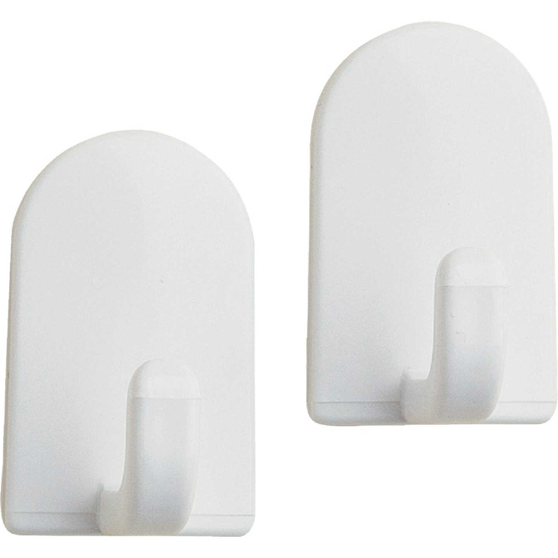 InterDesign Soap Savers Mini White Plastic Adhesive Hook (2-Pack) Image 1