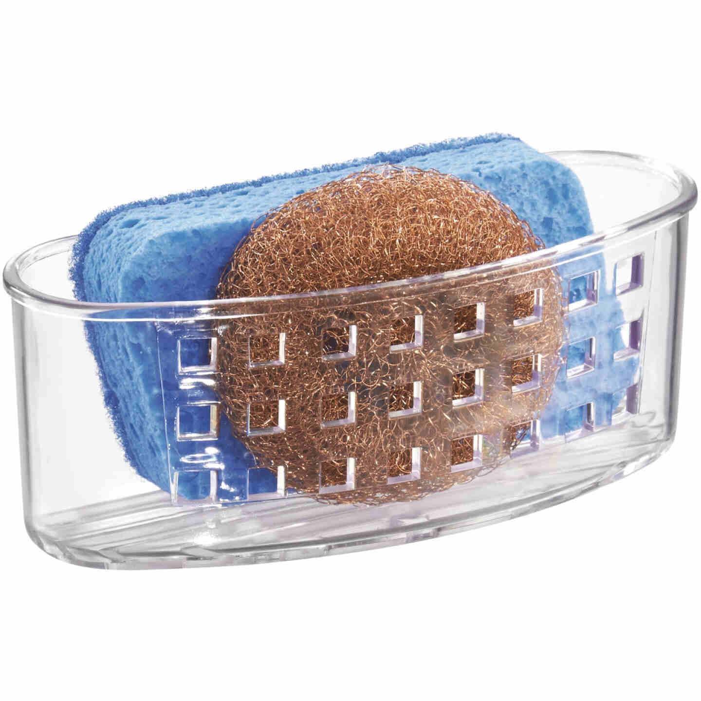 InterDesign Sinkworks Clear Suction Scrubber & Sponge Holder Image 3