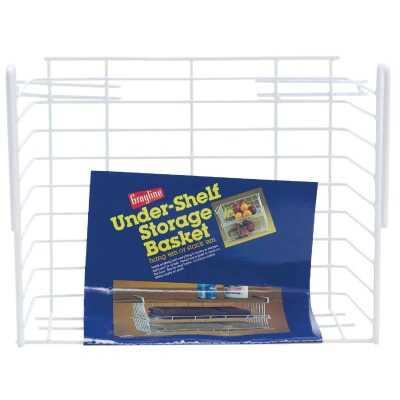 Grayline 10 In. W. x 6-1/4 In. H. x 12 In. L. Vinyl Coated Wire Undershelf Storage Basket, White