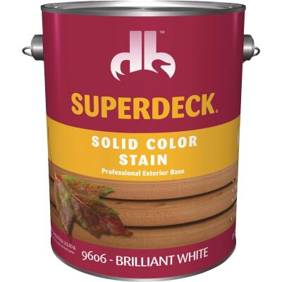 Duckback SUPERDECK Self Priming Solid Color Stain, Brillant White, 1 Gal