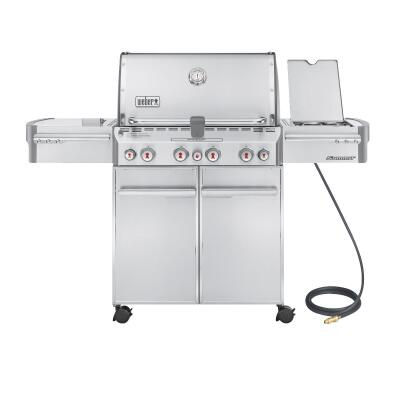 Weber Summit S-470 4-Burner Stainless Steel 48,800-BTU Natural Gas Grill with 12,000-BTU Side Burner
